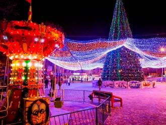 Новый год в Анапе на берегу Чёрного моря
